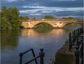 Bewdley Bridge Evening sun