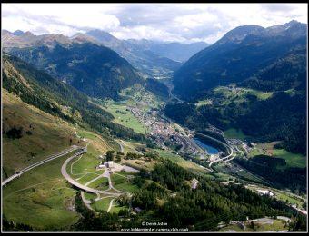 Airolo from Gotthard Pass