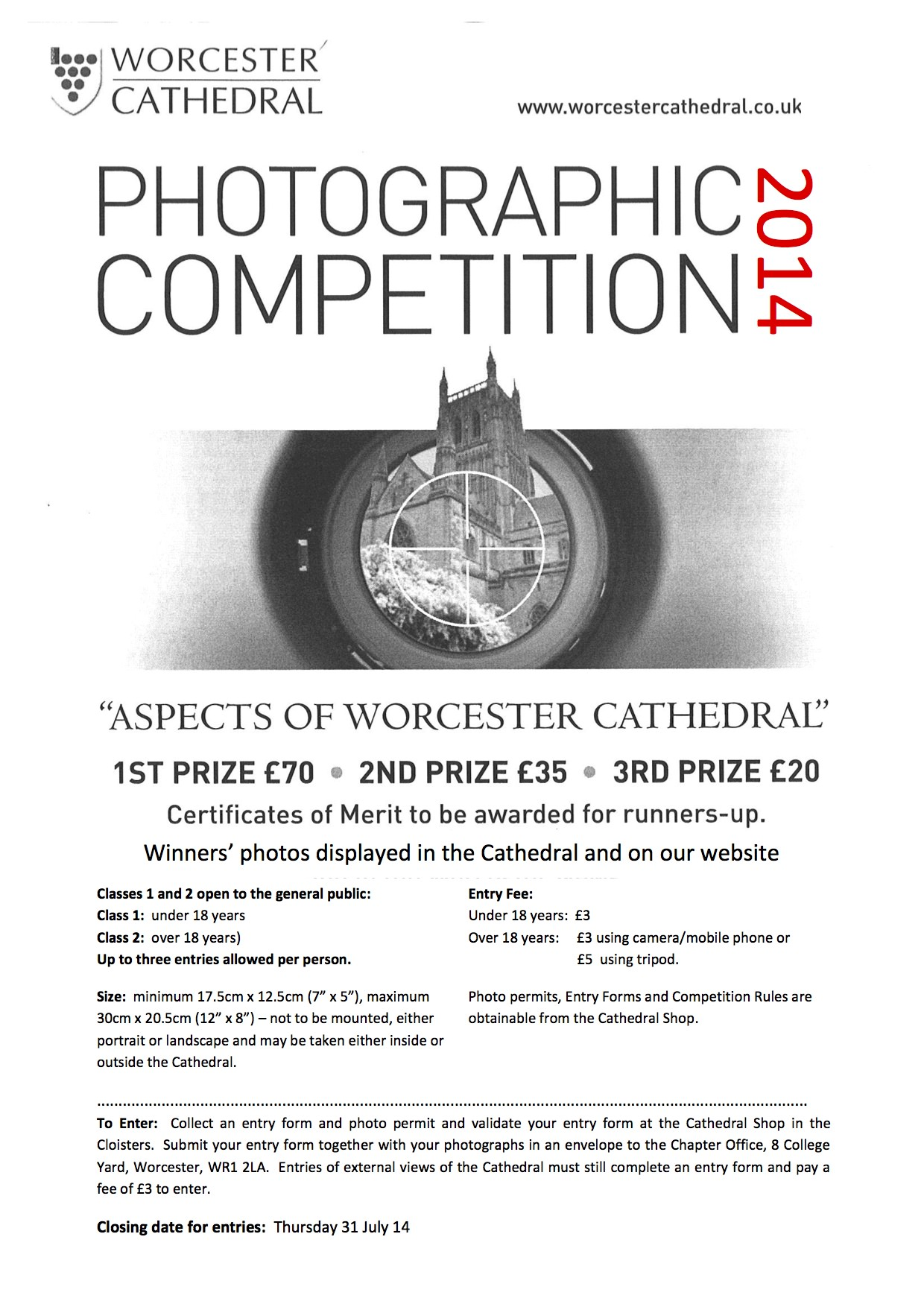 Photographic Competition poster 2014